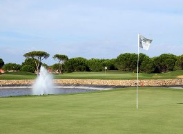 A prominent feature of this course are the many water hazards